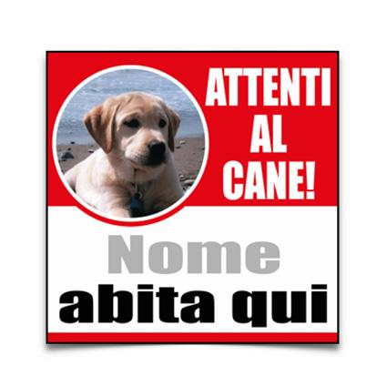 cartello cane personalizzato